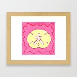Yellow and Pink Sand Dollar Beach Art Framed Art Print