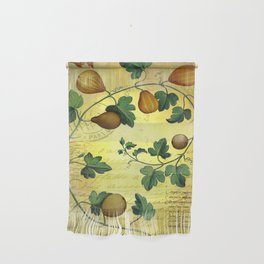 Vintage Botanical Collage, Autumn Pumpkins Wall Hanging