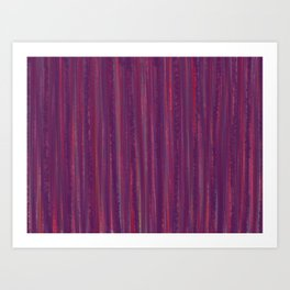 Stripes  - purple and red Art Print