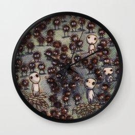 Soot sprites (Susuwatari) Wall Clock