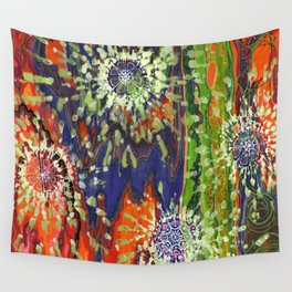 Induced Cosmic Revelations (Four Dreams, In Mutating Cycle) Wall Tapestry