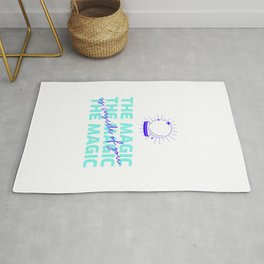 The Magic Is Inside You - powerful quote - believe in yourself  Rug