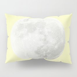 WHITE MOON + CANARY YELLOW SKY Pillow Sham