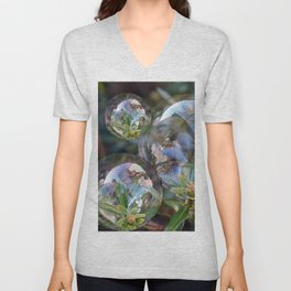 Flower bubbles Unisex V-Neck
