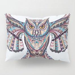 Colorful Ethnic Owl Pillow Sham