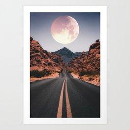 Mooned Art Print