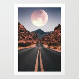 Mooned Art Print