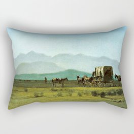 Surveyor's Wagon in the Rockies Rectangular Pillow