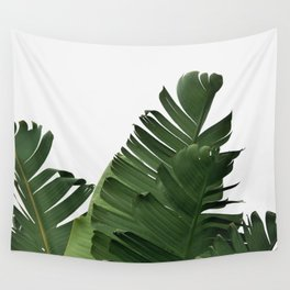 Minimal Banana Leaves Wall Tapestry