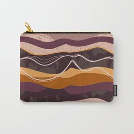 Abstract waves hand drawn illustration pattern Carry-All Pouch