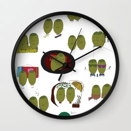 Olive Love Wall Clock