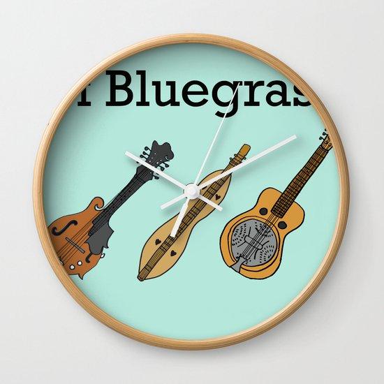 The ABCs of Bluegrass Wall Clock