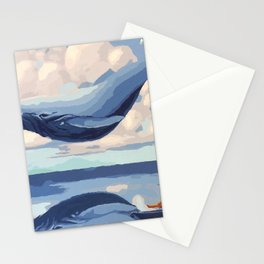 Fascinating Giant Fairytale Sea Creature Levitating Dreamy UHD Stationery Cards
