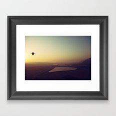 Balloon Sunrise Framed Art Print