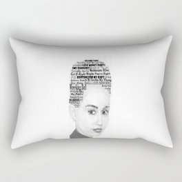 Miley Bangerz Album lyrics design Rectangular Pillow
