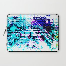 circuit board blue Laptop Sleeve