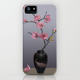 Flowering Pink Quince iPhone Case