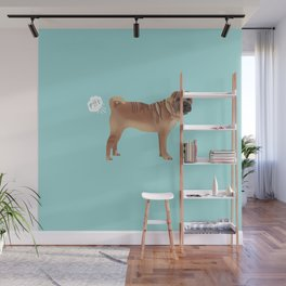 sharpei funny farting dog breed pure breed pet gifts Wall Mural
