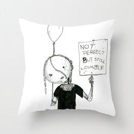Not perfect... Throw Pillow