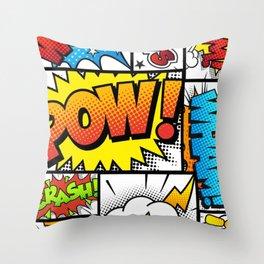 Comic Bomb! Throw Pillow