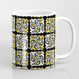 Yellow and Black Stained Glass Geometric Mosaic Coffee Mug