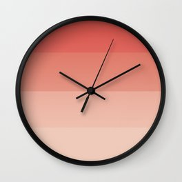 coral ombre Wall Clock