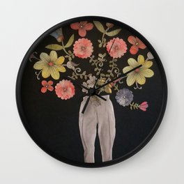 Also Flowers Growing In All The Wrong Places Wall Clock