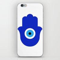 evil eye iPhone & iPod Skins featuring Evil Eye by Marcaccini Studios