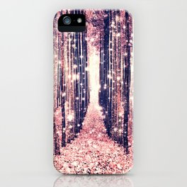 Millennial Pink Magical Forest iPhone Case