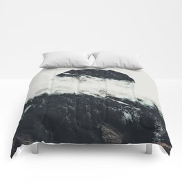 Black meets white Comforters