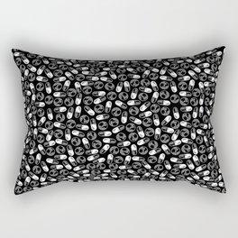 Black Medication Pattern - Nurse, Doctor, Pharmacist Rectangular Pillow