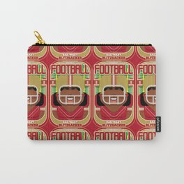 American Football Red and Gold - Hail-Mary Blitzsacker - Aretha version Carry-All Pouch