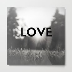 LOVE Sunshine Scenery (Valentine's Day Gifts / Black & White Valentine Day Gift) Metal Print