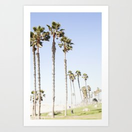 Palm Trees Swaying in the Breeze Art Print