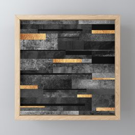 Urban Black & Gold Framed Mini Art Print