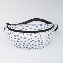 Dalmatian Blue Spots - Royal Blue Polka Dots Fanny Pack