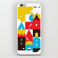 castle iPhone & iPod Skins featuring Castle by koivo