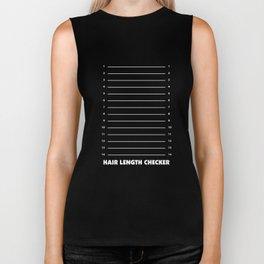 Hair Length Checker Funny Graphic T-shirt Biker Tank