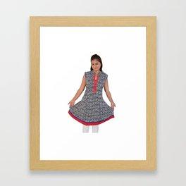 Beautiful Jaipur Kurtis For Ladies Framed Art Print
