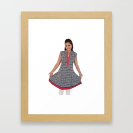 Beautiful Jaipur Kurtis For Ladies Framed Art Print