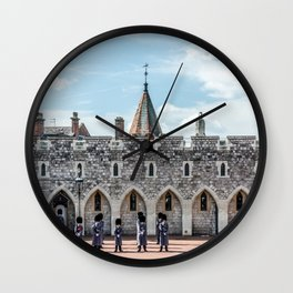 Changing of the Guard Windsor Castle England  Wall Clock