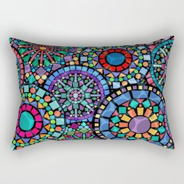Colorful Geometric Pattern Rectangular Pillow