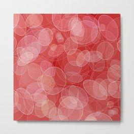 Bokeh style love valentine's texture. Metal Print