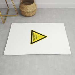 I think therefore I am dangerous - danger road sign T-shirt Rug