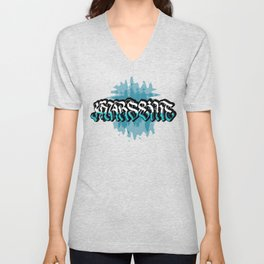 Marseille (Blue background) Unisex V-Neck