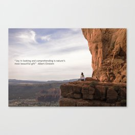 Pondering Upon Cathedral Rock Canvas Print