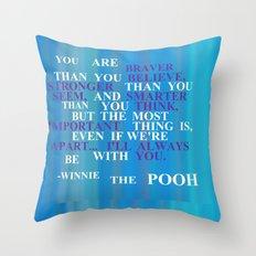 Winnie quote 2 Throw Pillow