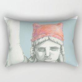 Liberty in PINK skyblue Rectangular Pillow