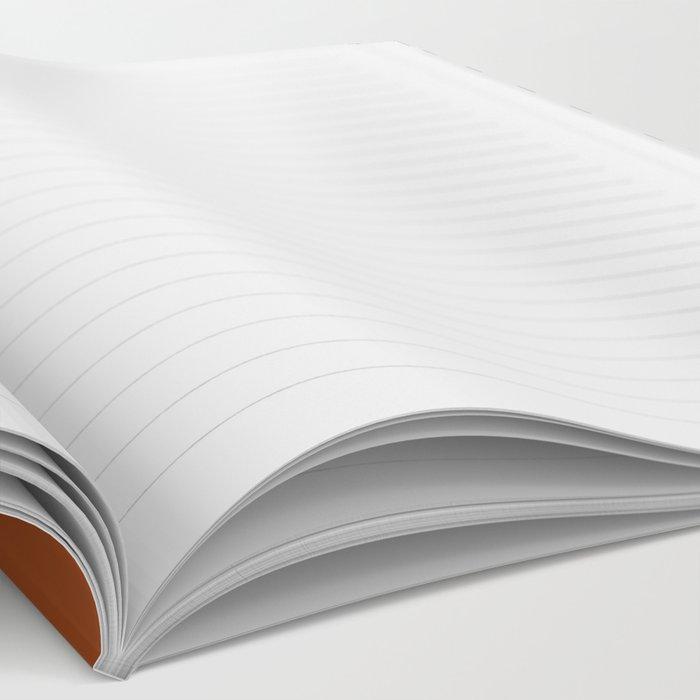 Burnt Orange x Stripes Notebook