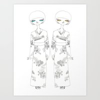 Futago Art Print